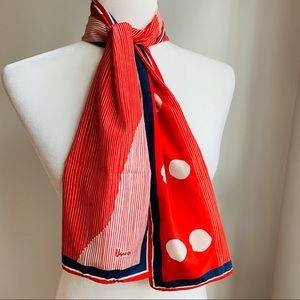 VTG Vera Neumann Red White & Blue Polka Dot Stripe